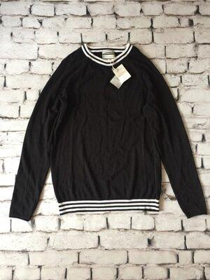 Чорний светр стильний пуловер чоловічий