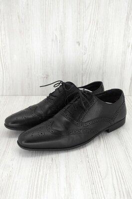 Стильные фирменные классические кожаные туфли броги Next . Размер uk10/ eur44.