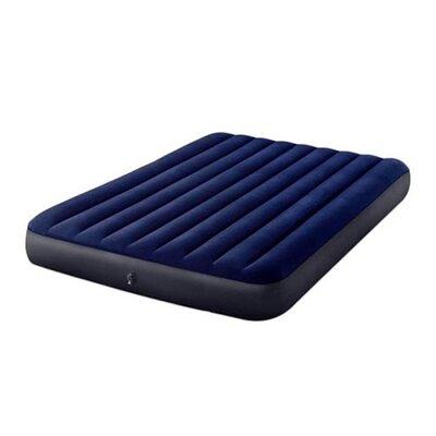 Велюр матрас 64765 размер 152-203-25 см, насос ручной, синий, в кор-ке