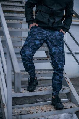 Котоновые штаны Baza Intruder камуфляж синий