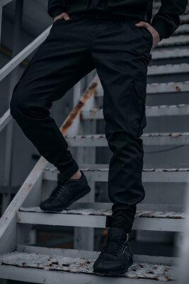 Котоновые штаны Baza Intruder черные