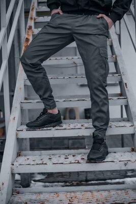 Котоновые штаны Baza Intruder серые