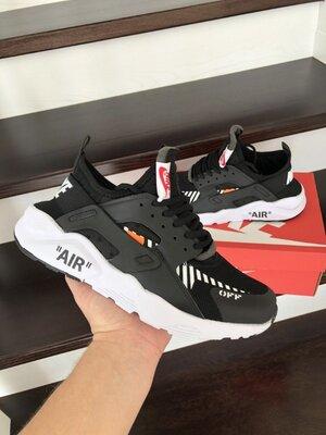 Кроссовки мужские Nike Air Huarache, черный с белым