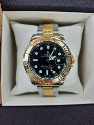 Мужские часы реплика Rolex Oyster Perpetual Ролекс Gold/Silver