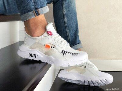 Nike Air Huarache кроссовки мужские демисезонные белые 10320