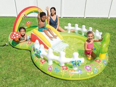 Игровой надувной центр для детей Intex 57154 NP «Мой сад»
