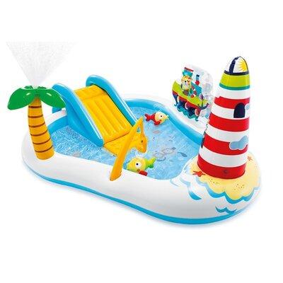 Надувной игровой центр Intex «Веселая Рыбалка» 57162 218 188 99 см с надувной удочкой, 2 рыбы