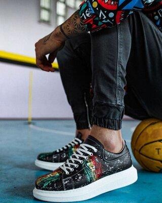 Новинка супер крутой принт мужские молодежные кроссовки кроссы кеды мокасины с рисунком надписями