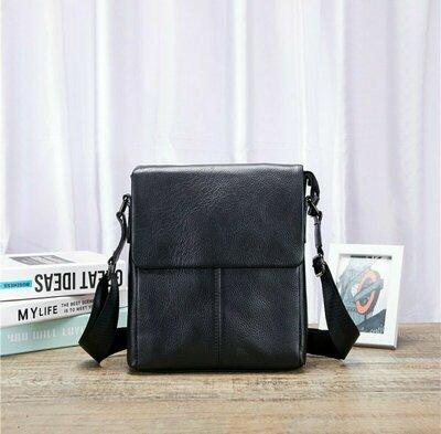 Качественная кожаная мужская сумка-планшет