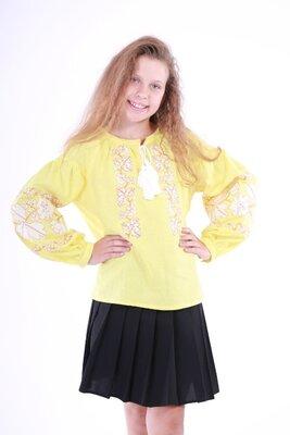 Вишиванка для дівчинки Невісточка жовтий
