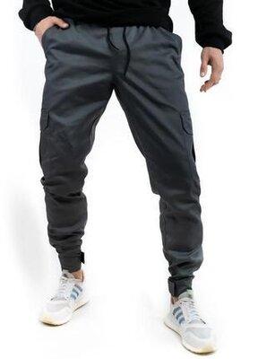 Мужские котоновые штаны baza intruder серого цвета