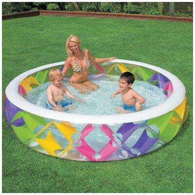 Круглый бассейн с надувным дном Intex 56494, объем 772 л размер 229 56 см