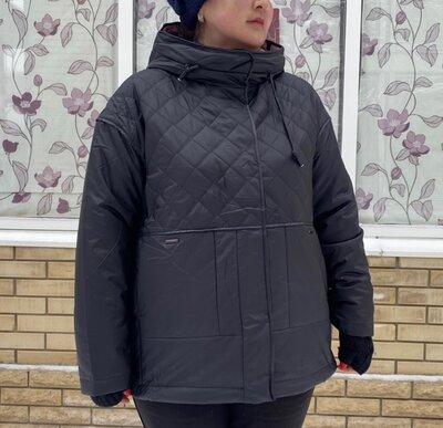 Куртки Женские Баталы Фабричный Китай QUIIET POEM Большие Размеры 54-60
