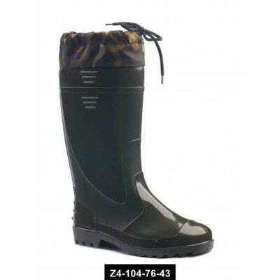 Мужские резиновые сапоги с утяжкой, 41-46 размер, цельнолитые, Z4-104-76-43