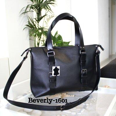 Мужская кожаная сумка Beverly черный флотар