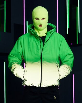 Куртка демисезонная мужская Yard зелено-рефлективная