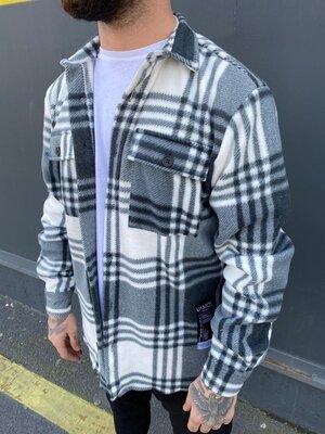 Чоловіча жіноча тепла сорочка в клітинку Саймон