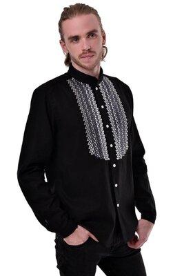 Чоловіча вишита сорочка Шепіт чорна