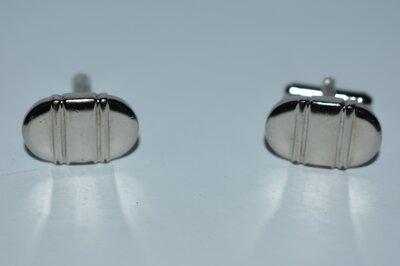 симпатичные запонки стиль минимализм металл вес 14,7 грамм винтаж