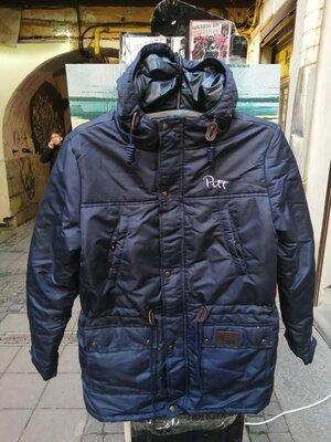 Продано: Куртка парка зимняя пуховик зимова чоловіча парка pitt blue 2020 темно-синя в наявності