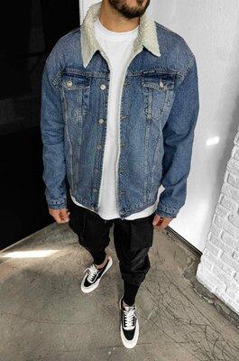 Чоловіча джинсова куртка Даллас на хутрі