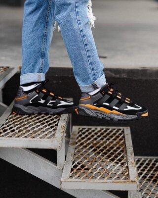 Мужские Кроссовки Adidas Niteball Black Orange AAA 42-45
