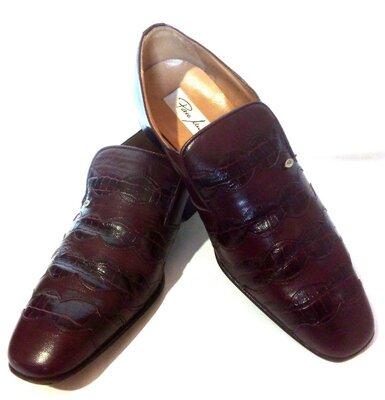 Стильные кожаные мужские туфли лоферы от бренда paco milan, р.41 код m4103