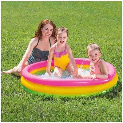 Детский надувной бассейн Радуга Intex 57412 114 25 см