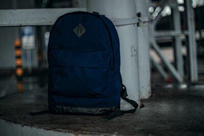 Рюкзак кож.дно темно синий