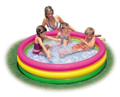 Детский надувной бассейн Радуга Intex 57422 147 33 см