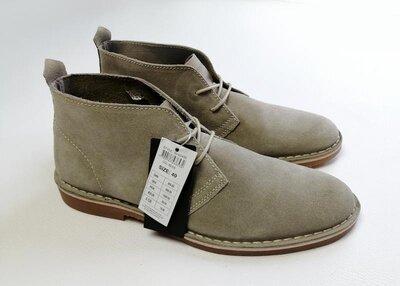 Кожаные туфли ботинки дезерты lindbergh