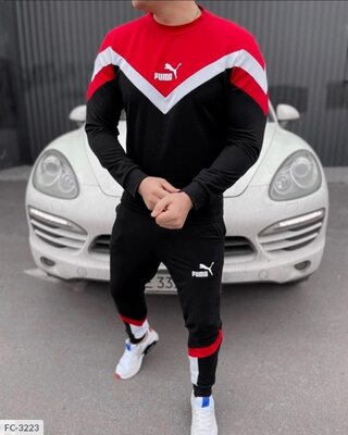 Мужской спортивный костюм двухнить с фирменным логотипом