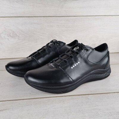 Мужские кожаные кроссовки демисезонные весна-осень Ecco
