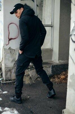Тактический мужской спортивный костюм Softshell куртка штаны ветровка брюки