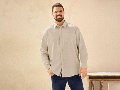 Льняная рубашка, батал. Немецкое качество