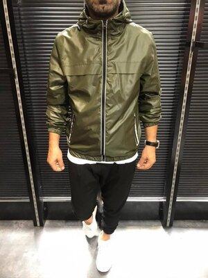 Куртка-Ветровка хаки D108