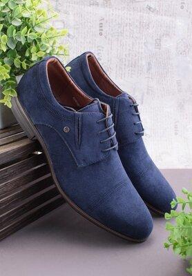 Мужские туфли из эко-замши