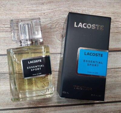 Парфюм тестер Lacoste Essential Sport мужская туалетная вода 63 мл. производство Эмираты