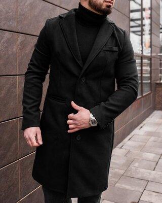 Пальто чёрное мужское
