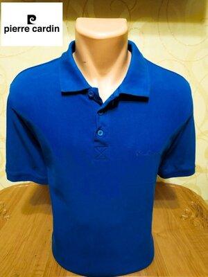 Комфортная хлопковая футболка-поло уникального французского бренда Pierre Cardin.