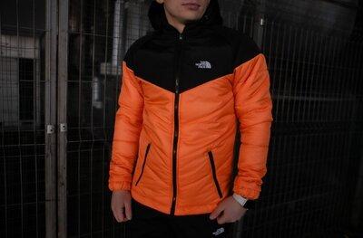 Куртка TNF черно- оранжевая 1615451043
