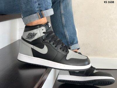 Лучшее качество. Мужские Кроссовки Nike Air Jordan серо/черные KS 1638