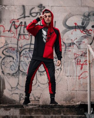 Спортивный костюм Benimaru R Черно-Красный
