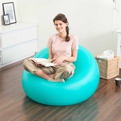 Надувное кресло Bestway 75081 Comfort Cruiser Inflate-A-Chair флокированное 107х102х61 голубой