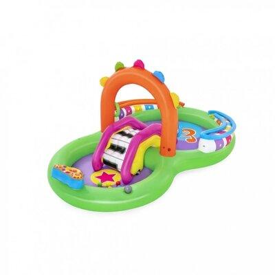 Надувной игровой центр с горкой и бассейном Bestway 53117