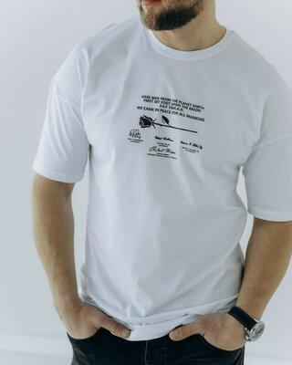 Мужская крутая фирменная котоновая брендовая стильная футболка майка с надписями рисунком принтом