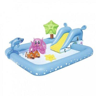 Бассейн надувной 53052 Аквариум, детский , с морскимы животными