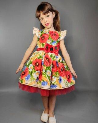 Платье нарядное бальное пышное детское для девочки на выпускной в садик