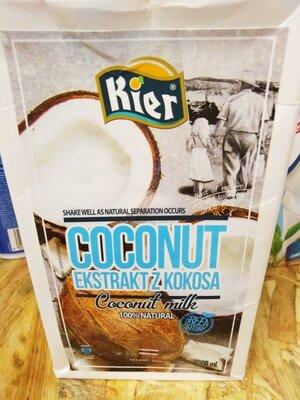 75% Кокосовое молоко Kier Киер Прекрасное молоко В составе 75% кокоса и вода. После открытия срок г