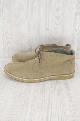 Стильные демисезонные замшевые ботинки Williams and Brown. Размер uk15/ eur49.